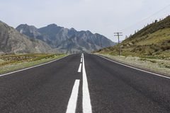 Road in Russian mountains Royalty Free Stock Images