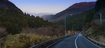 Beautiful road at Hakone province royalty free stock images