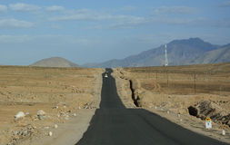 Beautiful road with mountain in Ladakh Stock Photo