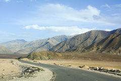 Beautiful road with mountain in Ladakh Royalty Free Stock Photography