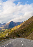 Beautiful road and mountain landscape in New Zealand Royalty Free Stock Photos