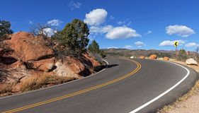 Beautiful road and mountain Royalty Free Stock Photos