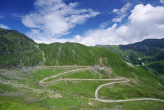 Beautiful road in mountains Royalty Free Stock Photography