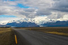 Beautiful road in a national park.  Royalty Free Stock Images