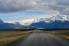 Beautiful road in a national park.  Royalty Free Stock Photo