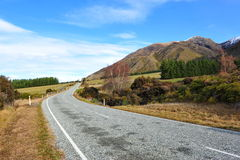 Beautiful road in New Zealand Royalty Free Stock Images