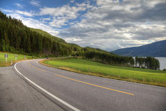 Beautiful road in norwegian mountains. Stock Photography