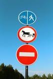 Beautiful road signs Stock Photo