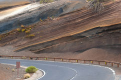 Beautiful road, Tenerife island, Spain Stock Photography