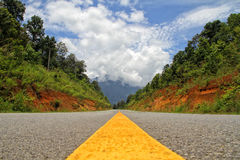 A beautiful road. A trip on a beautiful road Stock Photography