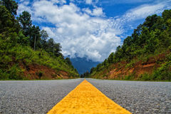 A beautiful road. A trip on a beautiful road Royalty Free Stock Image