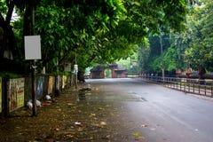 Indian road -  in kerala. Beautiful roads in kerala, after a rain Royalty Free Stock Images
