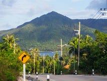 On the beautiful roads of Koh Phangan stock photos
