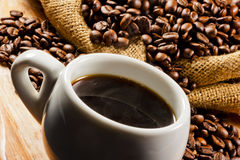 Beautiful roasted coffee beans Royalty Free Stock Photography