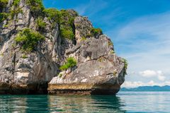 A beautiful rock in the Andaman Sea in Thailand. Krabi Resort Stock Photos
