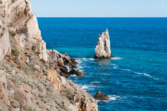 Beautiful rock on the Black Sea shore Stock Photo
