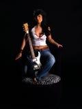 Beautiful rock chick Stock Photo