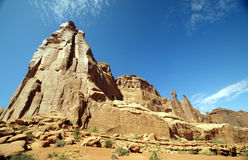 Beautiful Rock Formation and Mountains Royalty Free Stock Images