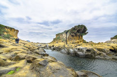 Beautiful rock formation in peace island, keelung,. Taiwan Royalty Free Stock Image