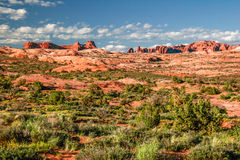 Beautiful rock formations in Arches canyon Royalty Free Stock Images