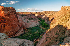 Beautiful rock formations in Arches canyon Stock Image
