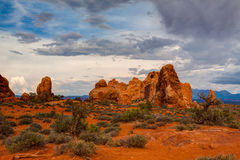 Beautiful rock formations in Arches National Park, Utah, USA Royalty Free Stock Photos
