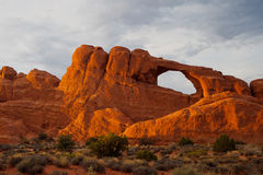 Beautiful rock formations in Arches National Park, Utah, USA Stock Photography