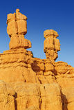 Beautiful rock formations. Beautiful hoodoo rock formations in bryce canyon Royalty Free Stock Photos