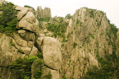 Beautiful rock formations in huangshan mountain Stock Image