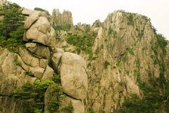 Beautiful Rock Formations In Huangshan Mountain Stock Image