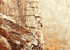 Rock formations in a Park. Beautiful rock formations in Nature Park Sicevachka Klisura Stock Photos