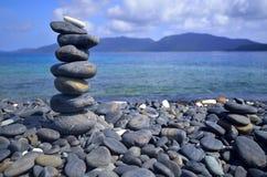 Beautiful rock island Stock Images