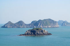 Beautiful rock islands in the sea royalty free stock image
