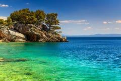 Beautiful rock peninsula,Brela,Makarska riviera,Dalmatia,Croatia,Europe Stock Photo