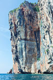 Beautiful rock in  Phi Phi Ley Royalty Free Stock Photography
