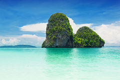 Beautiful rock on Railay beach Stock Images