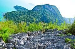 Beautiful Rock and Sea at Southern Thailand Royalty Free Stock Image