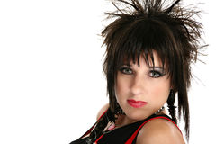 Beautiful Rocker Chick Royalty Free Stock Photography
