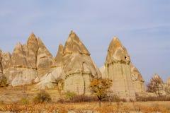 Beautiful rocks in Cappadocia, Turkey Royalty Free Stock Image