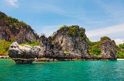 Beautiful rocks of the island Hong Stock Photo