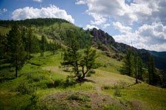 Beautiful rocks in Khakassia Stock Image