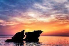 Beautiful rocks landscape Stock Photos