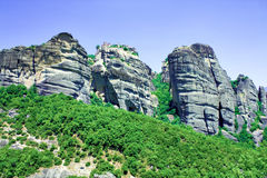 Beautiful rocks Meteora Royalty Free Stock Image