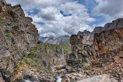 Beautiful rocks in a mountain canyon Stock Image