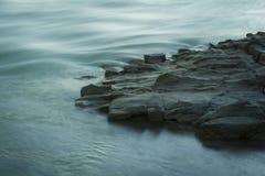 Beautiful rocks near the shore Stock Image
