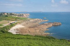Beautiful rocky coast of Brittany in France Stock Image