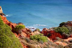 Beautiful rocky coast of the ocean, stunning beautiful landscape Royalty Free Stock Image