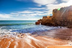 Beautiful rocky coast of the ocean, stunning beautiful landscape Royalty Free Stock Photo