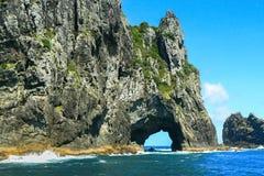 Rocky coastline, Bay Of Islands, North Island, New Zealand. Beautiful rocky coastline at the Bay Of Islands on a summers day, North Island, New Zealand royalty free stock image