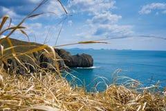 Beautiful rocky coastline fall Royalty Free Stock Photos